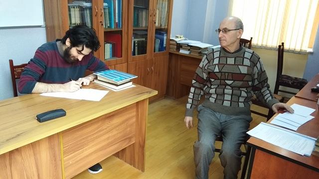 AMEA-nın akad.M.Nağıyev adına Kataliz və Qeyri-üzvi Kimya İnstitutunda təhsil alan magistrantların qış imtahan sessiyası 24.01.2020-ci il tarixində keçirildi.