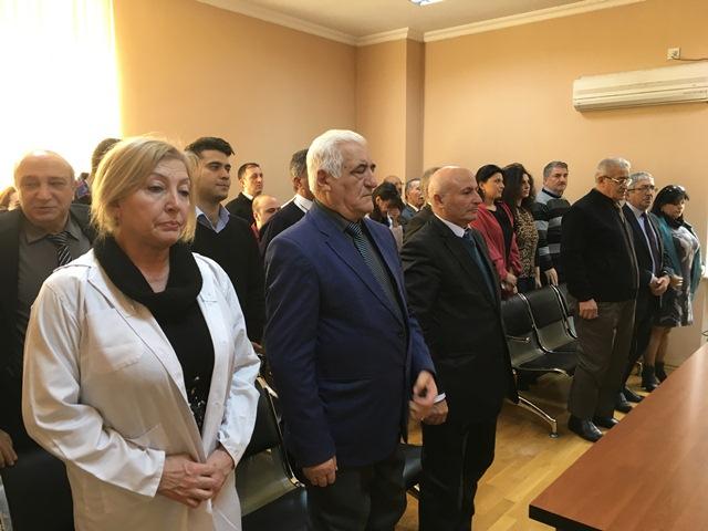 В Институте было проведено собрание, посвященное памяти общенационального лидера Гейдара Алиева