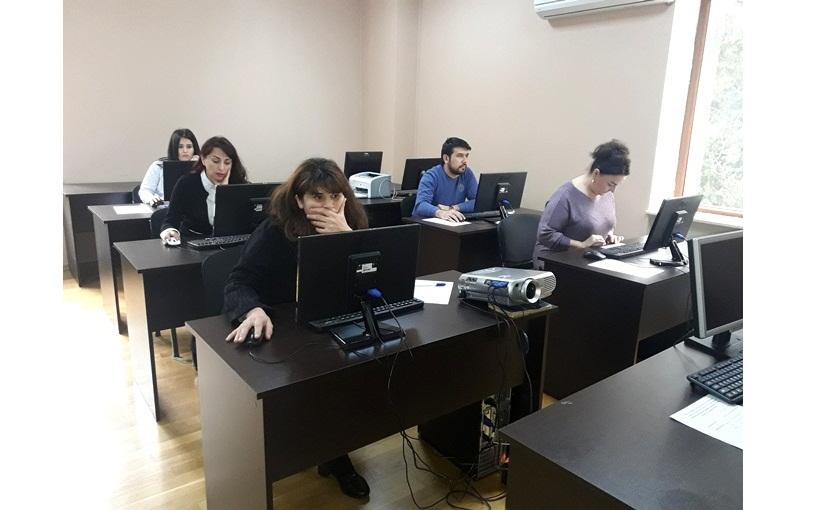 AMEA-nın akad.M.Nağıyev adına Kataliz və Qeyri-üzvi Kimya İnstitutunda qış imtahan sessiyası üzrə minimum imtahanı keçirildi