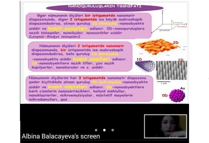 Kataliz və Qeyri-üzvi Kimya İnstitutunda təhsil alan magistrantların dərsləri onlayn formada davam etdirilir