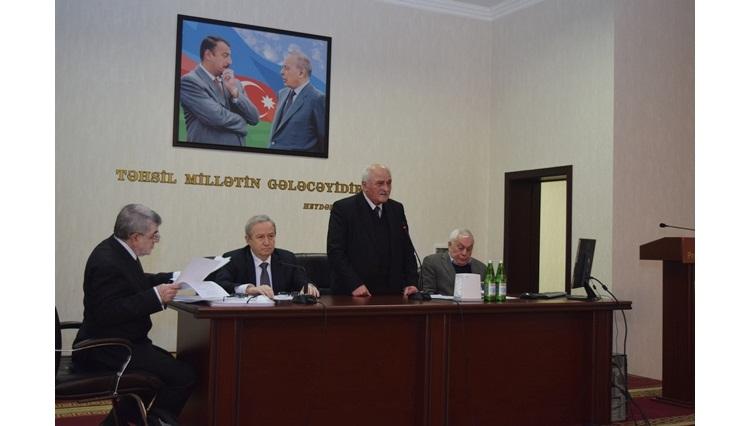 Kimya Elmləri Bölməsinin elmi-tədqiqat institutlarının fəaliyyəti yüksək qiymətləndirilib