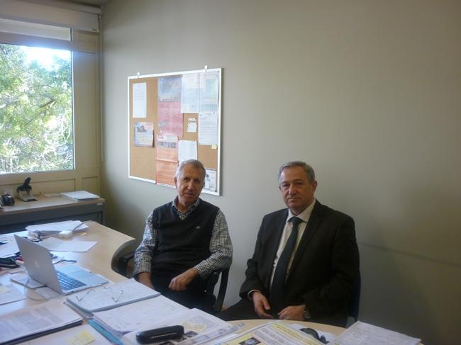 Akademik Dilgəm Tağıyev və Donostia Beynəlxalq Fizika mərkəzinin professoru Yevgeni Çulkov. İspaniya, San-Sebastyan