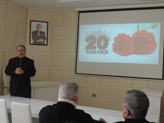 В ряде научных учреждений и организаций НАНА состоялись памятные мероприятия в связи с трагедией 20 Января