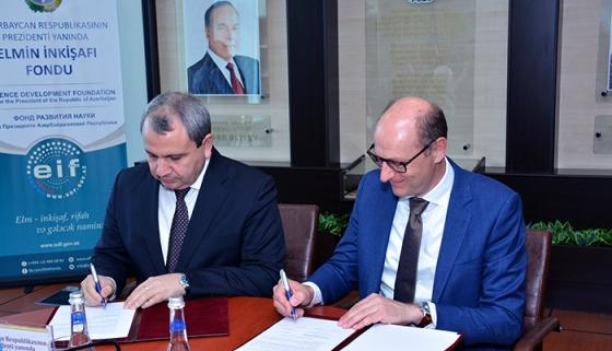 """Elmin İnkişafı Fondu ilə """"Elsevier"""" arasında əməkdaşlıq haqqında memorandum imzalanıb"""