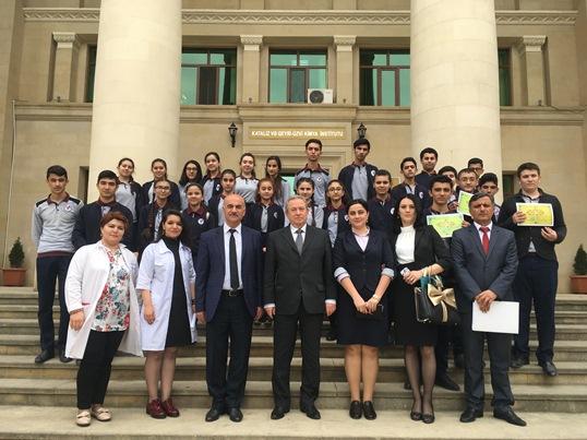 Kataliz və Qeyri-üzvi Kimya İnstitutunda məktəblilərlə görüş keçirilib