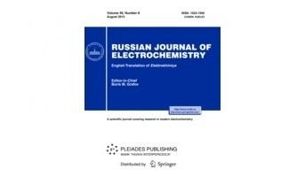 """İnstitutun əməkdaşlarının Impakt Faktorlu """"Russian Journal of Electrochemistry""""də """"Thermodynamic Study of Ag8GeSe6 by EMF with an Ag4RbI5 Solid Electrolyte"""" məqaləsi dərc olunmuşdur"""