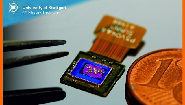 German engineers have created a camera no bigger than a grain of salt