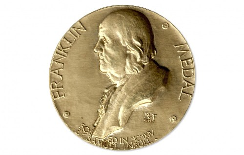 "Announced the names of the winners of the ""Benjamin Franklin Medal"""