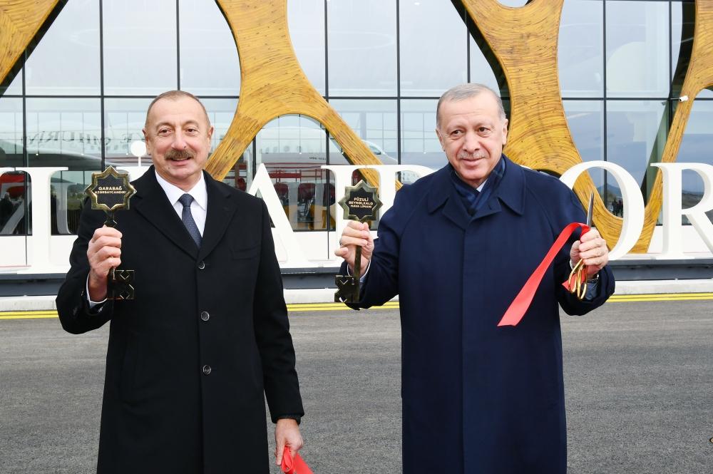 Füzuli Beynəlxalq Hava Limanının açılış mərasimi olub