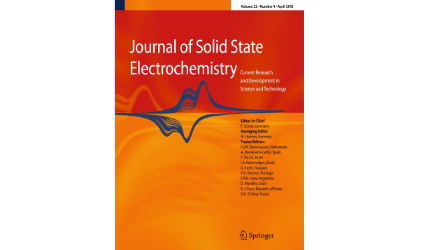 "The article ""Thermodynamic study of the Ag-Tl-Se system using the EMF method with AG4RbI5 as a solid electrolyte"" has been published in the ""Journal of Solid State Electrochemistry"" with impact factor 2.316 (TR)"