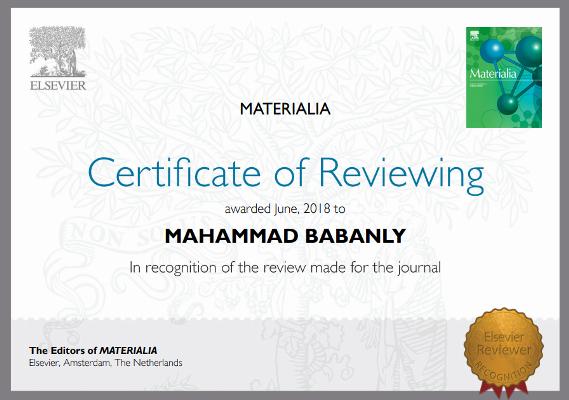 """""""Elsevier"""" nəşriyyatı AMEA-nın müxbir üzvü Məhəmməd Babanlını sertifikatla mükafatlandırdı"""