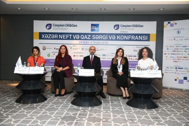 """""""Caspian Oil & Gas 2019"""" və """"Caspian Power 2019"""" sərgilərinin açılışına həsr olunmuş mətbuat konfransı keçirildi"""
