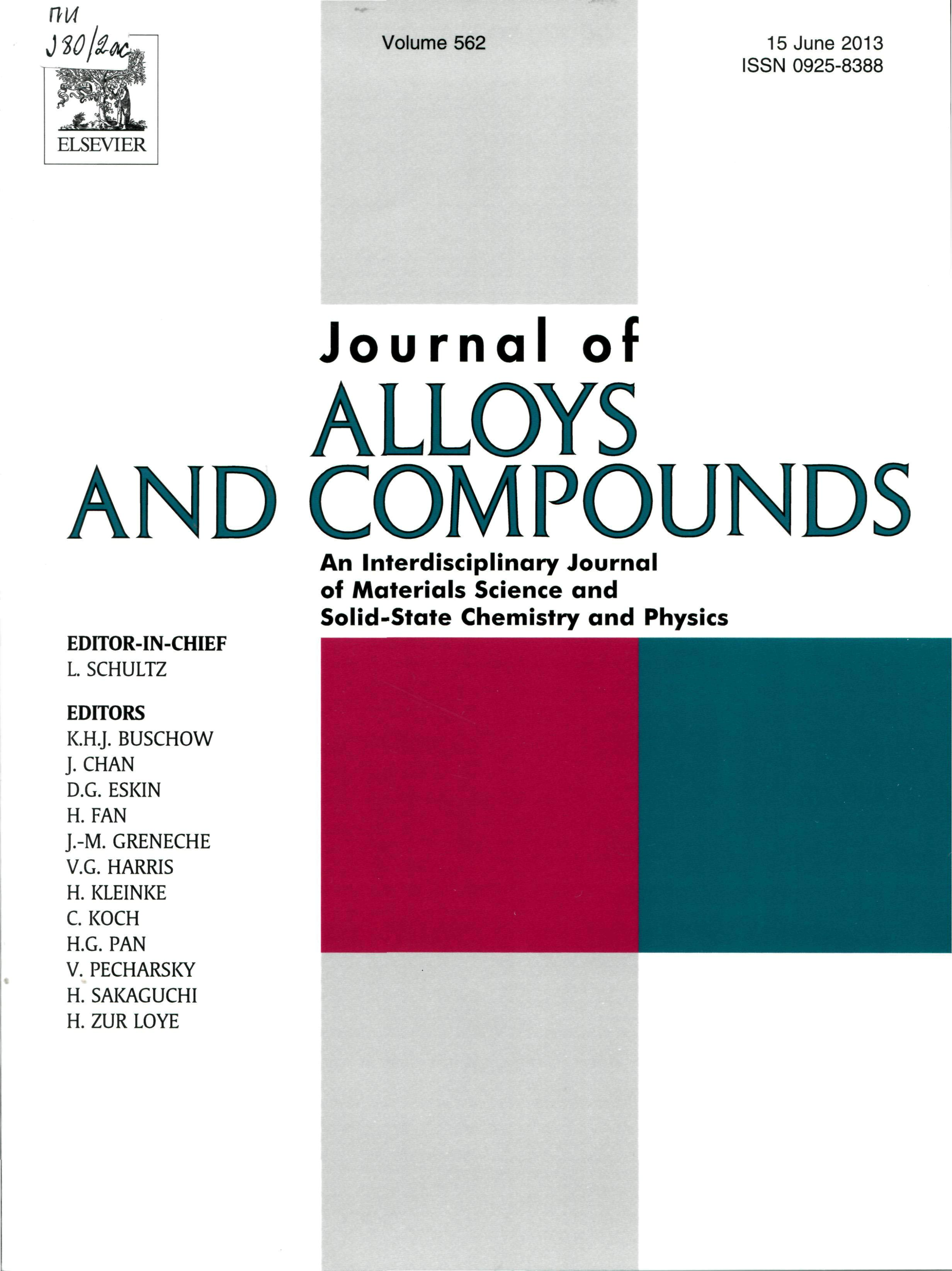 D. Babanlı, Z. Əliyev, S. İmaməliyeva, D. Tağıyevin yüksək impakt faktorlu (3,014)«Journal of Alloys and Compounds» jurnalında «An investigation of the Tl –Te – I system and structure of the Tl5Te2I» məqaləsi çap olunmuşdur