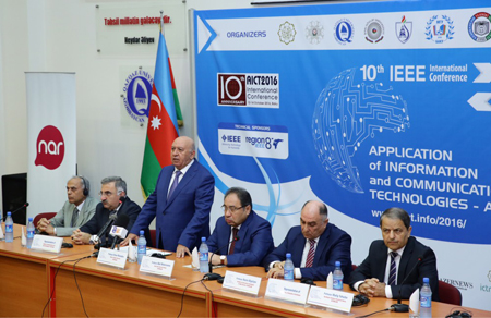 """İKT-nin tətbiqi üzrə """"AICT 2016"""" konfransı öz işinə başladı"""