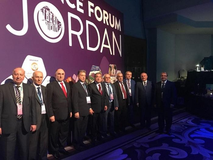 AMEA-nın prezidenti İordaniyada keçirilən Dünya Elm Forumunda iştirak edir