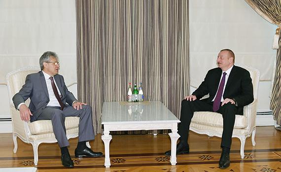 Azərbaycan Respublikasının Prezidenti İlham Əliyev Rusiya Elmlər Akademiyasının prezidentini qəbul edib