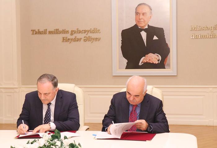AMEA Yüksək Texnologiyalar Parkı ilə Azərbaycan Texniki Universiteti arasında əməkdaşlıq müqaviləsi imzalanıb