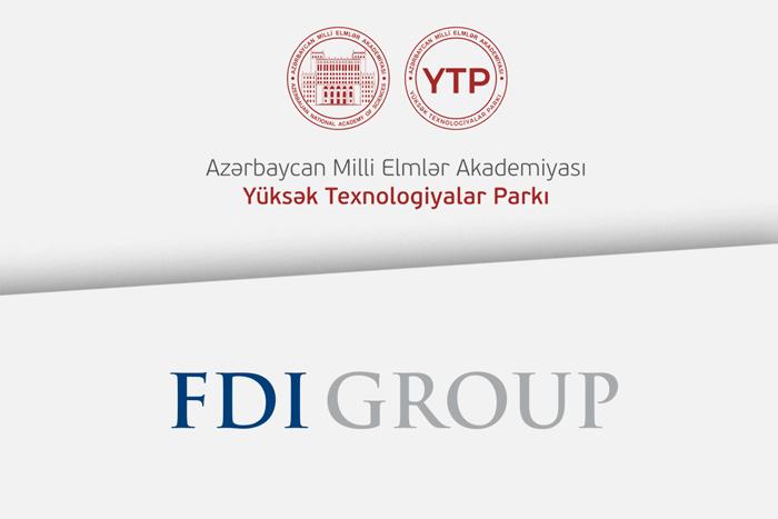 """AMEA Yüksək Texnologiyalar Parkı ilə """"FDI Group"""" arasında əməkdaşlığa dair memorandum imzalanıb"""