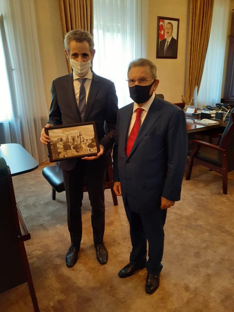 AMEA-nın prezidenti Fransanın ölkəmizdəki səfiri ilə görüşüb