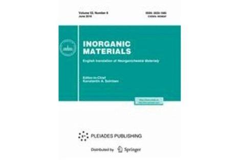 """İnstitutun əməkdaşlarının """"Electrical Properties of Electrochemically Grown Thin Sb2Se3 Semiconductor Films"""" məqaləsi Impakt Faktoru 0.771 olan """"Inorganic Materials"""" jurnalında dərc olunmuşdur"""