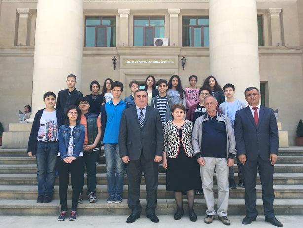 Kataliz və Qeyri-Üzvi Kimya İnstitutunda şagirdlər üçün ekskursiya təşkil  olunub
