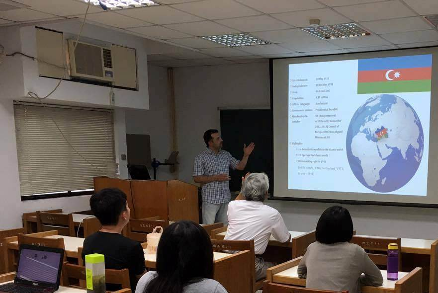 İnstitutun aparıcı elmi işçisi  Şamo Tapdıqov Tayvan Milli Tsinq Hua Universitetinin Kimya Mühəndisliyi Departamentində maraqlı təqdimatla çıxış etmişdir.